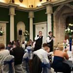 Surprise singers at Hazelwood Castle
